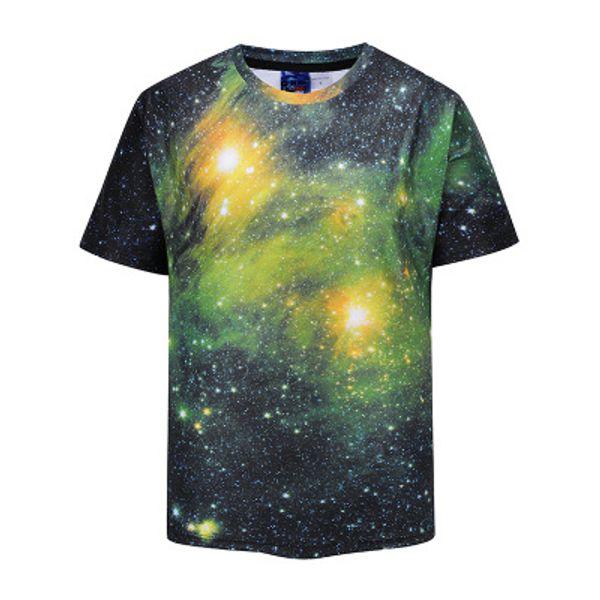 Mr.1991INC Men/Women 3d Tshirts Space Galaxy T-shirt 3d Print Trees Stars Night Quick Dry Summer Tops Tees