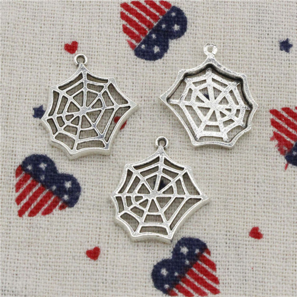 158pcs Charms cobweb spider halloween 25*23mm Pendant,Tibetan Silver Pendant,For DIY Necklace & Bracelets Jewelry Accessories