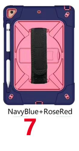 navy blue+rose red