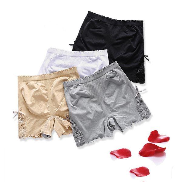 Women Safety Short Pant Underwear Plus Size High Waist Cotton Panties Seamless Breathable Briefs New