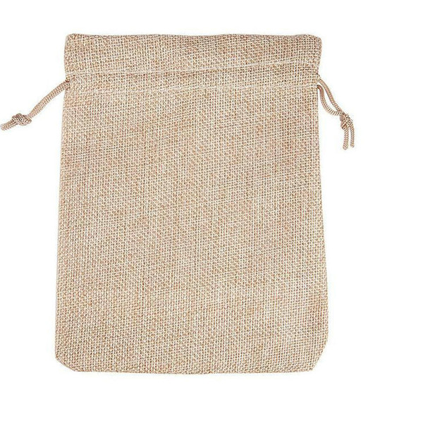 best selling 4 Sizes original color jute Bag Drawstring Wedding&Christmas Packaging Pouchs & Gift Bags Small Jewelry Sachet &Mini Jute bags