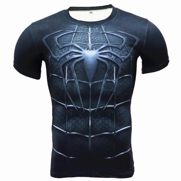Mens Compression Shirt Superhero Superman Capitan America Iron Men Quick drying 3D T Shirt Fitness Men Short Sleeve T-Shirt