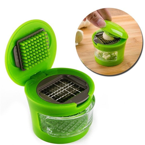 Garlic Press Slicer Kitchen Garlic Chopper Garlic Presser Tool Vegetable Dicer Grater Kitchen Chili Pepper Slicer