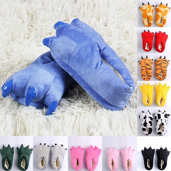Kid Baby Girls Winter Warm Indoor Slippers Funny Animal Paw Monster Claw Shoes Soft Plush Children Shoes Warm Home