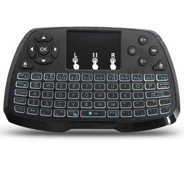 Mini tastiera wireless con mouse combinato per PC, TV Box Android, proiettore intelligente, tablet, notebook e netbook, retroilluminazione a LED colorato,