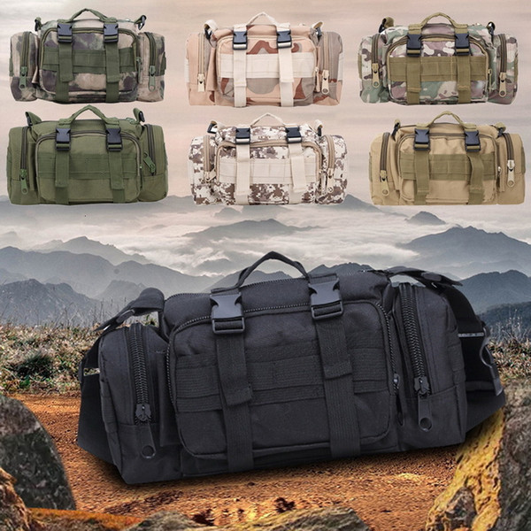Adisputent Waterproof Oxford Military Waist Bags Army Tactical Outdoor Pouch Bag Durable For Camping Hiking Mochila Bolsa