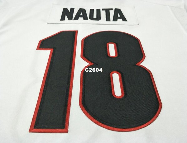 Men  18 Isaac Nauta Georgia Bulldogs SIZE S-4XL red black white College  Jersey or custom any name or number jersey 20d12bb53
