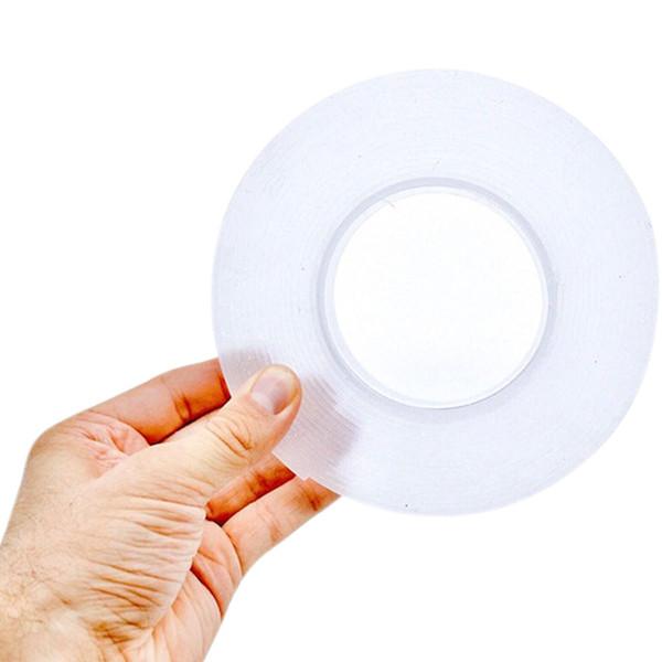 HEISSES VERKAUFS-WERKZEUG Transparente Farbe Doppelseitiges entfernbares Gel Nano (keine Verpackungsbox) Pad Grip Tape doppelseitige Viskosität