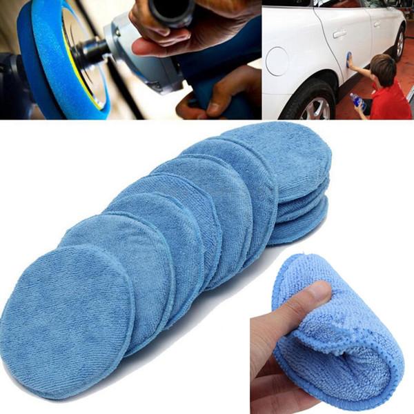 6/12pcs 5 Inch Waxing Polish Wax Foam Sponge Applicator Pads Washing Sponge For Car Window Dashboard Seat Cover Drill