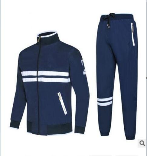 wholesale Autumn men's full zip tracksuit men sport suit white cheap men sweatshirt and pant suit and pant set sweatsuit men