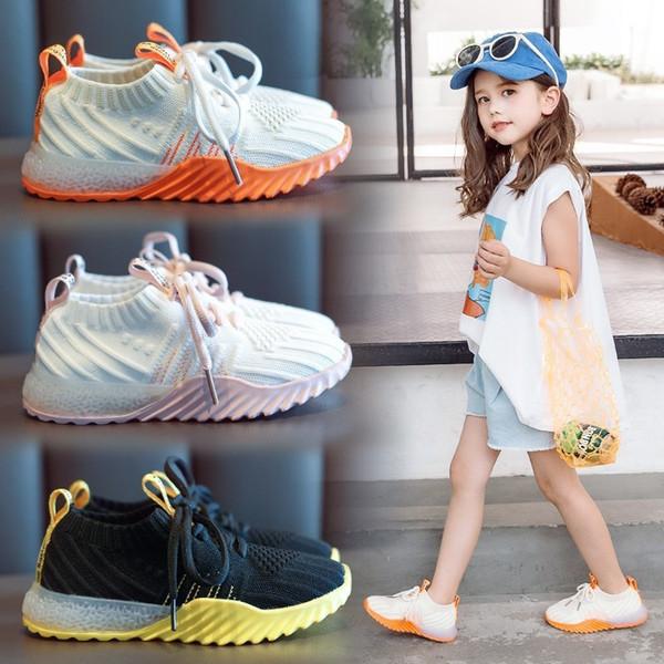 Enfants Voler Tissu Baskets Automne Fille En Volonté Enfant Loisir Temps Run Catamite Enfants Toddler Chaussures De Mode
