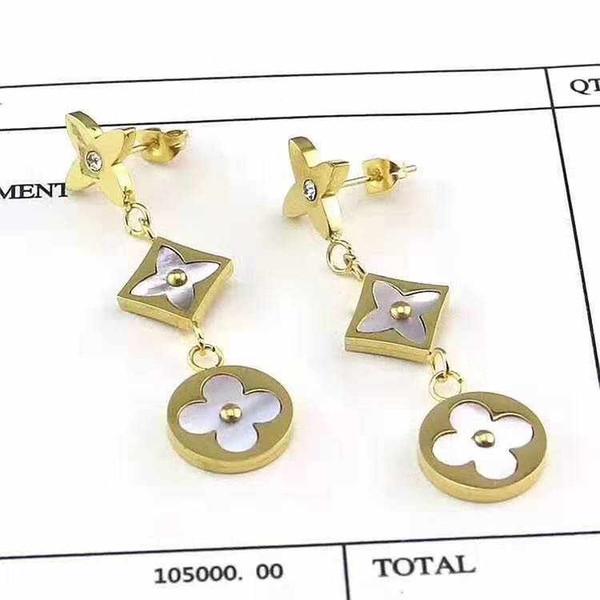 collana di design di gioielli di lusso per donna collana in acciaio al titanio pendente della collana hot fashion L bracciale orecchini di marca (senza scatola)