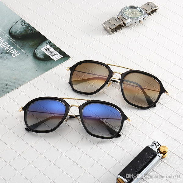 New R B 4273 Types Glass Sunglasses Men's and Women's Individual Round Frame Colorful Film UV Protection Trend Sunglasses