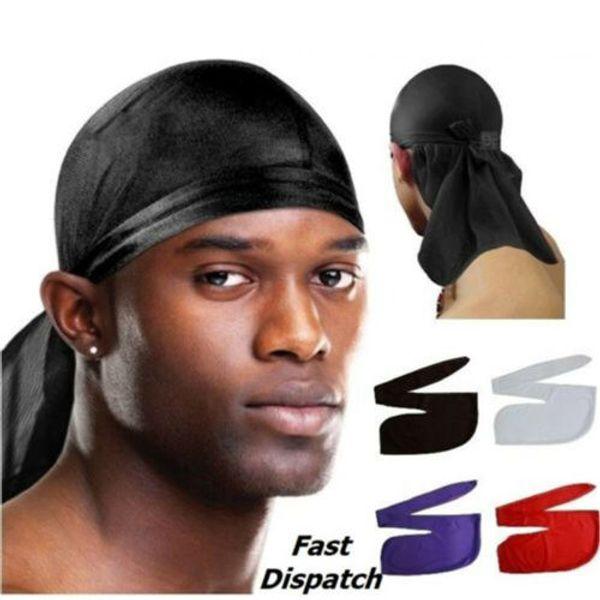 Uomo Durag Bandana traspirante Close Fit Cravatta Sport Du Rag Head Sciarpa Wrap Party Hats