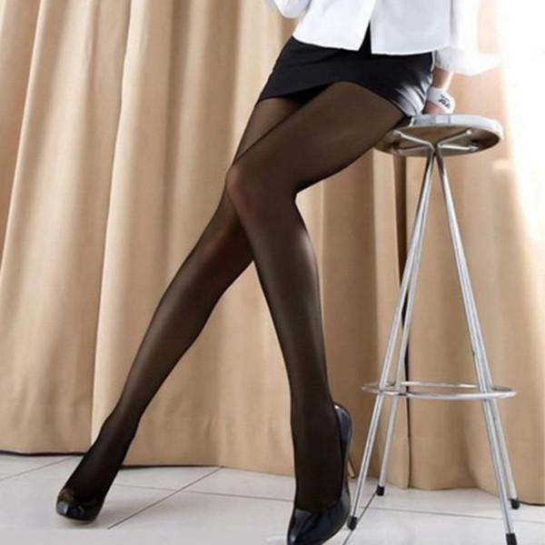 Morbida ultra sottile sexy delle signore delle donne trasparente Collant Calze a colori calze di seta di nylon di buona elasticità durevole