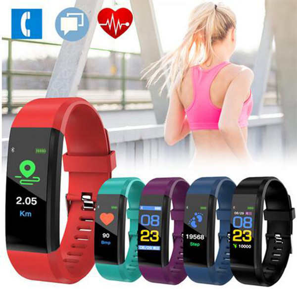 ID 115 PLUS Smart Band Sportfarbdisplay Smart Armband Herzfrequenz- / Blutdruckmessgerät IP67 Wasserdichter Aktivitäts-Tracker