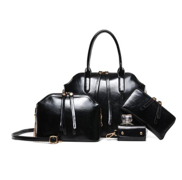 Women Luxury Designer Handbags 4PCS Sets Leather Composite Bags Ladies Hot Sale Shoulder Bags Outdoor Shopping Cross Body Bags