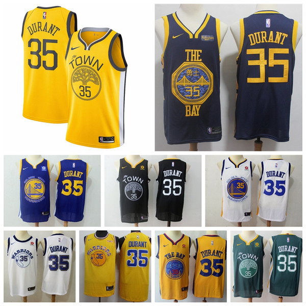 the best attitude aa4c1 9677c 2019 2019 New Mens 35 Kevin Durant Golden State Jersey Warriors Basketball  Jerseys Stitched New City Edition Kevin Durant Jerseys Warriors Shorts From  ...