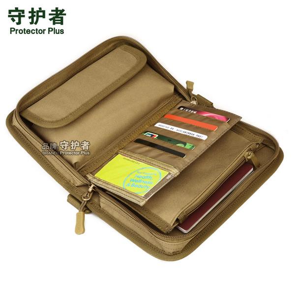 Carteira de embreagem Tactical MOLLE, pacote de passaporte, saco de mão de camuflagem esportes ao ar livre A4439