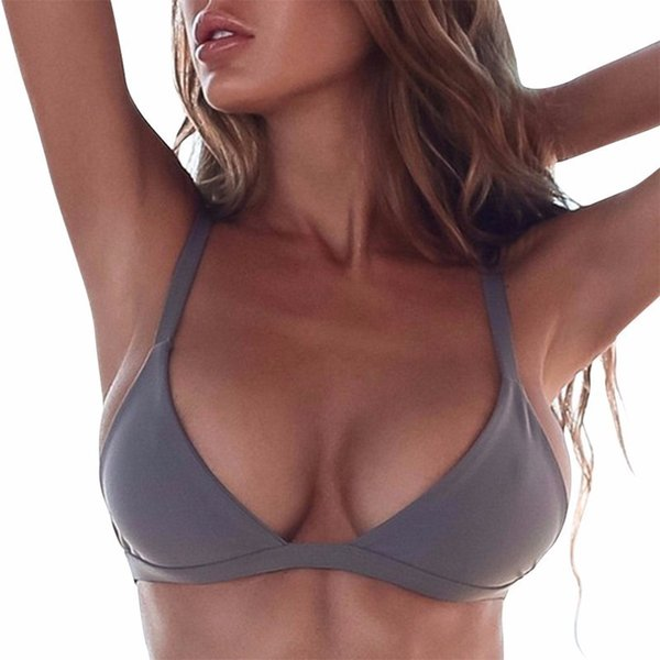 5 Colors Sexy Women Bandage Bikini Top Push-up Triangle Bra Bralette 2018 New Swimwear Bathing Swimsuit Drop Shipping