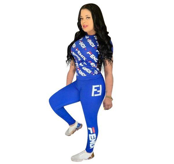 2019 Artı Boyutu 2 Iki Adet Setleri Rahat Vogue Payetli Tişörtü Jogging Yapan Pantolon Kadın Giyim Kıyafetleri Suits Eşofman Tops + Pantolon