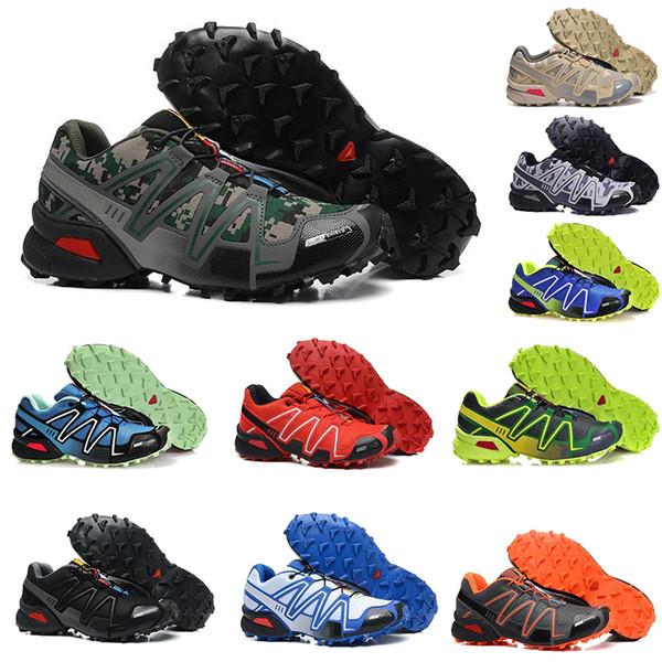 Nuovo Solomon 2020 di marca delle scarpe da tennis Speed Cross 3,0 3s Moda all'aperto a piedi Escursioni pista Scarpe da corsa Zapatillas terra nera Formatori