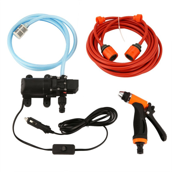 6L/min 130PSI High Pressure Car Water Pump Car Cleaning Kit 70W 12V DIY Auto Washing Tools Set Water Saving Accessaries