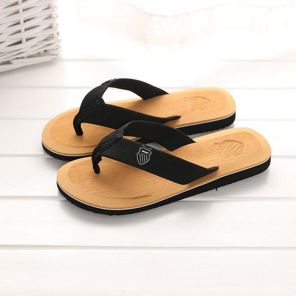 KESMALL Yaz Plaj Terlik Erkekler Çevirme Yüksek Kaliteli Plaj Sandalet Zapatos Hombre Rahat Ayakkabı Toptan WS321