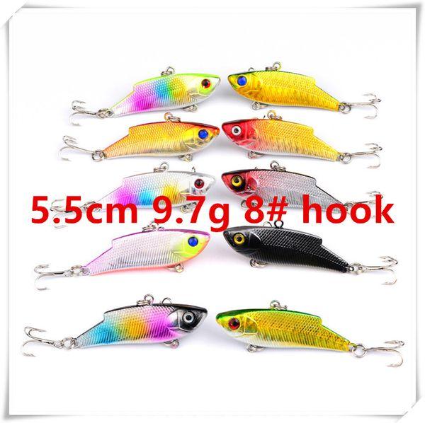 5.5cm 9.7g 8# hooks