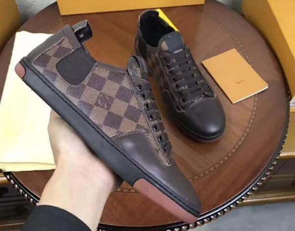 Las ventas calientes nuevos de calidad superior de la manera hombres de la marca de la llegada zapatos de los hombres zapatos casuales superior caja original el envío libre size39-45 hombre zapatillas de deporte VMX06