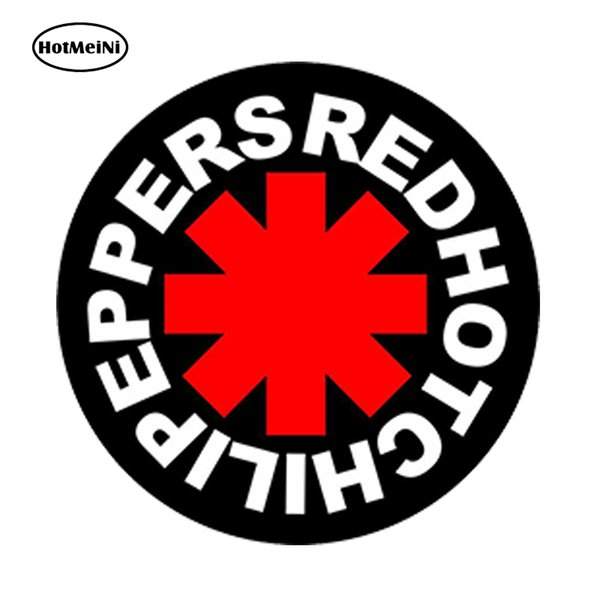 wholesale 20pcs/lot Car Styling Red Hot Chili Peppers Car Sticker Truck Window Bumper Usa Concert Music Waterproof Accessories 13x13cm