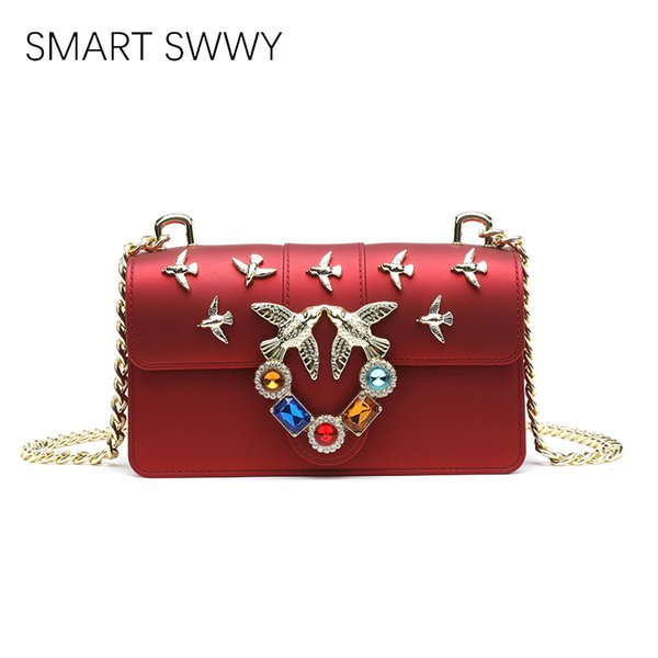 Swallow Design Women Handbag New Fashion Messenger Bag Brand Luxury Style PVC Leather Bags Ladies Small Shoulder Bag jelly Sac
