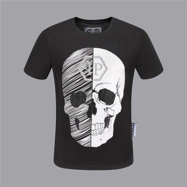 2018-2019 qp orijinal marka erkek kısa kollu Tişört Alman moda ceza tasarımcı kafatası lah yüksek kaliteli baskı Medusa, M-3XL
