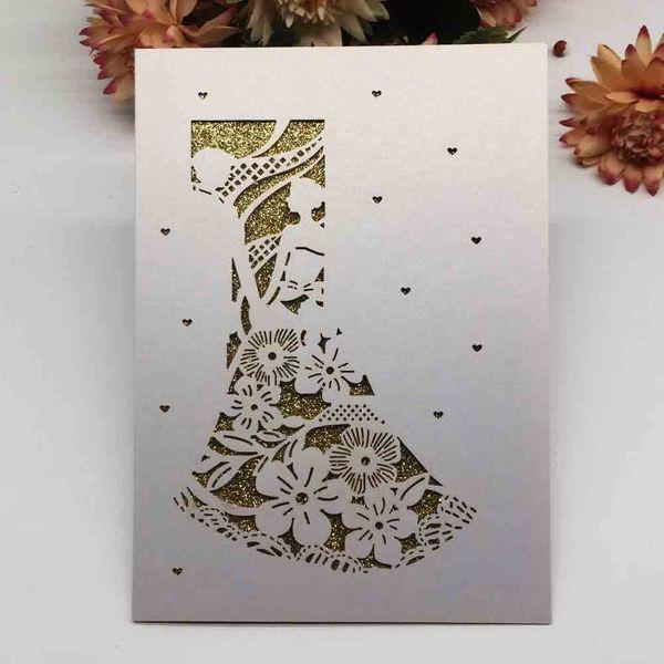 Compre Tarjeta De Invitación De Boda Del Modelo Novio Novia Romántica Ceremonia Del Día De San Valentín Personal Matrimonio Compromisos Tarjeta Hueco