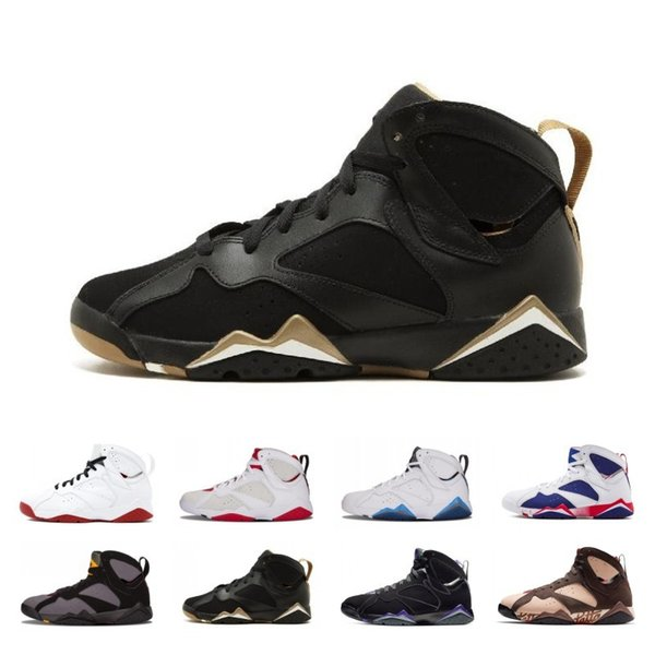 2019 Hot Fashion Patta X 7 Ray Allen Olympic 7s Men Breathable Basketball Shoes History of Flight Hare mens Raptor sports Sneakers 8-13