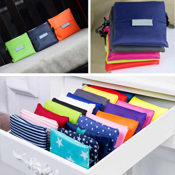top popular Reusable Foldable Grocery Bags Storage Bag Heavy Duty Folding Shopping Tote Bag Waterproof Shopping Bags ZZA1749 2021