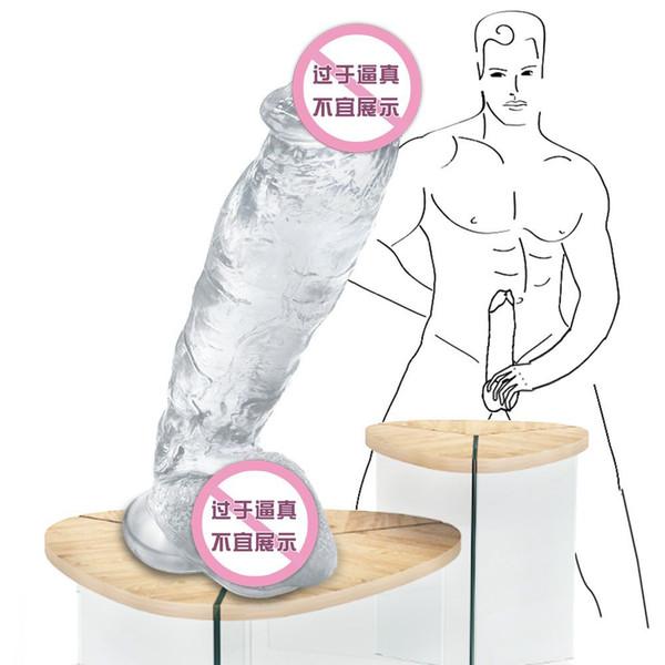 Danceyi Coloured Crystal Super-large Simulated Penile Pseudophallic Masturbator for Adults av283