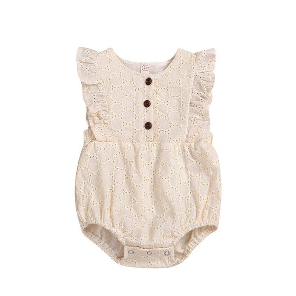 Pudcoco 2019 Verano Sólido Lovely Girls Baby Infant Kid Toddler Body Jumpsuit Sunsuit Otoño Lindo Casual trajes
