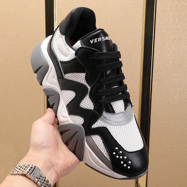 Hohe Qualität Herrenschuhe Chaussures gießen hommes Modedesigner Art Fußbekleidungen Squalo Sneakers Sports Plus Size Low Top Lace-up-Mann-Schuhe