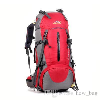 Wholesale-Brand Outdoor Men Women Trekking Hiking bag Backpack Trip Travel Luggage Bag 55L Camping Cycling Riding Backpack