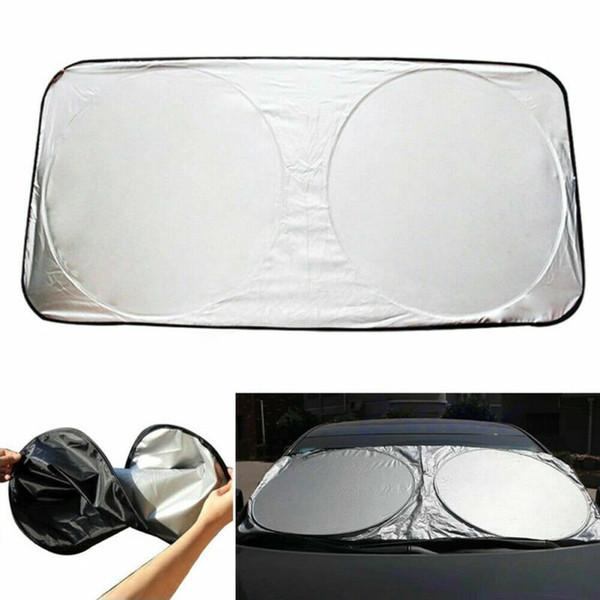 자동 자동차 전면 후면 창 바이저 앞 유리 블록 커버 썬 쉐이드 UV 보호 150x70cm