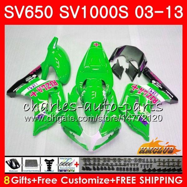 Body For SUZUKI SV650S SV1000S RIZLA green 03 09 10 11 12 13 Kit 22HC.76 SV 650S 1000S SV650 1000 S 2003 2009 2010 2011 2012 2013 Fairing