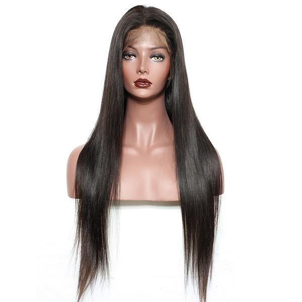 24inch 100% virgin hair silky straight human hair full lace wig