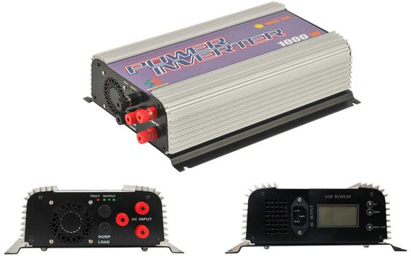 Freeshipping LCD wind grid tie inverter 1000W with dump load for 3phase AC wined turbine 22-60/45-90V, mppt pure sine wave grid tie inverter