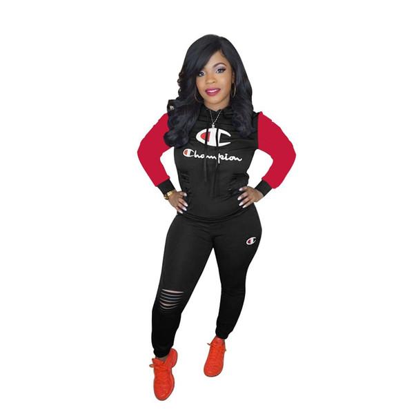 Womens long sleeve outfits two piece set tracksuit jogging sportsuit hoodie legging sportswear sweatshit tights sport suit hot 0184
