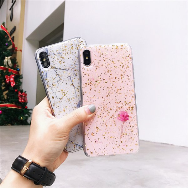 coque iphone xr feuille or