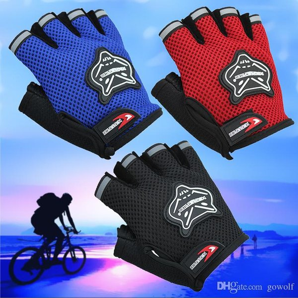 DHL 4 Colors Gloves Bicycle Sports Anti-scratch Cycling Glove Half Finger Gel bike Breathable Men Women Cycling Bike Gloves Ciclismo