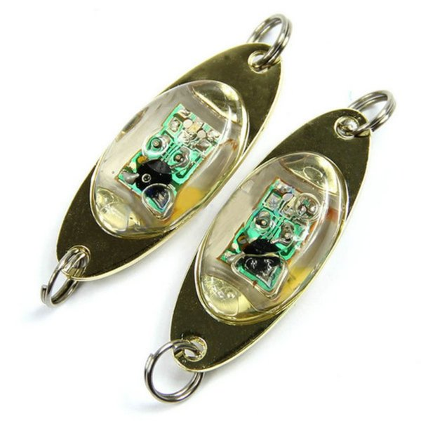 Flash Lamp 6 cm/2.4 inch LED Deep Drop Onderwater Oogvorm Vissen Squid Fish Lure Light Nieuwe