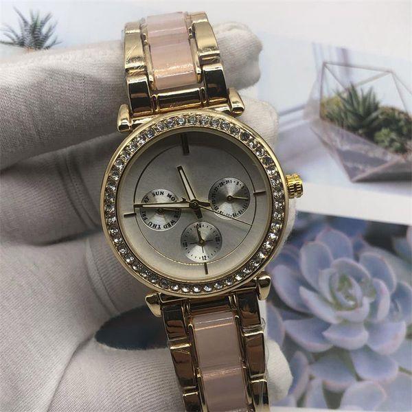 Fashion Rhinestone Diamond inlay large letters Clock dial Large dial Man Woman michael Quartz Watches wholesale American fashion brand
