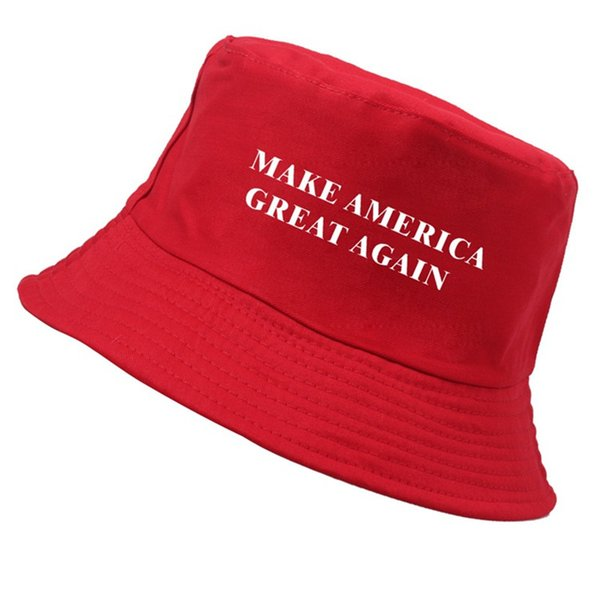 "2019 hot new ""Make America Great Again"" red adult shade fisherman hat for men and women WCW046"